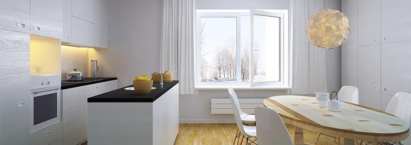 Пластиковое окно на кухню